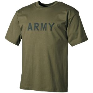 MFH T-shirt Olive with Army Print