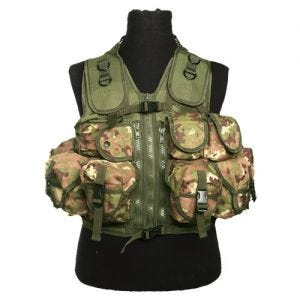 Mil-Tec Ultimate Assault Vest Vegetato Woodland