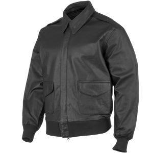Mil-Tec A-2 Leather Flight Jacket Black