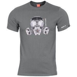 Pentagon Ageron Gas Mask T-Shirt Wolf Gray