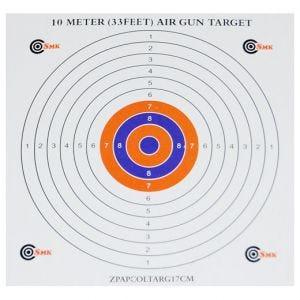 SMK Color Centre 17cm Paper Targets (100 Pack)
