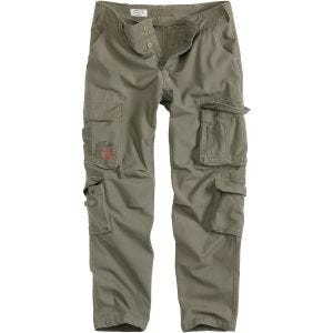 Surplus Airborne Slimmy Trousers Olive Washed