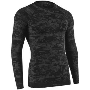 Tervel Optiline Digital Shirt Long Sleeve Black / Gray
