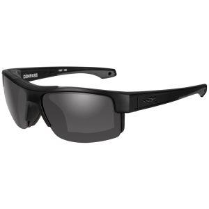 Wiley X WX Compass Glasses - Smoke Gray Lens / Matte Black Frame