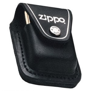 Zippo Lighter Pouch with Loop Black