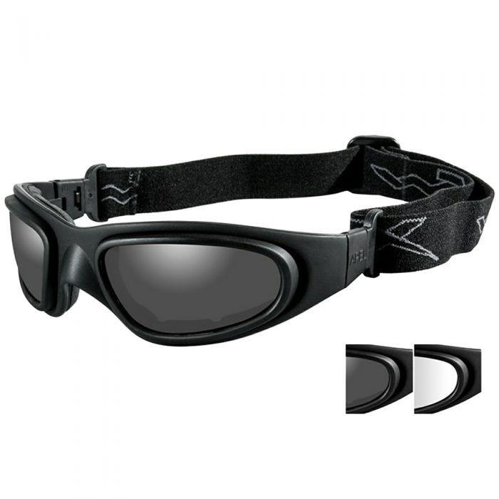 b8501fa4bc Wiley X SG-1 Goggles - Smoke Grey + Clear Lens   Matte Black Frame