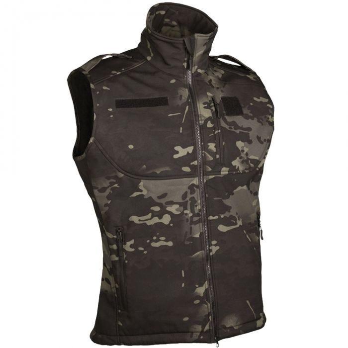Mil-Tec Soft Shell Vest Multitarn Black