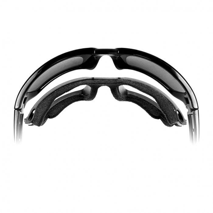 acaf3bffb548a Wiley X WX Valor Glasses - Polarized Crimson Mirror Smoke Gray Lens   Black  2 Tone Frame
