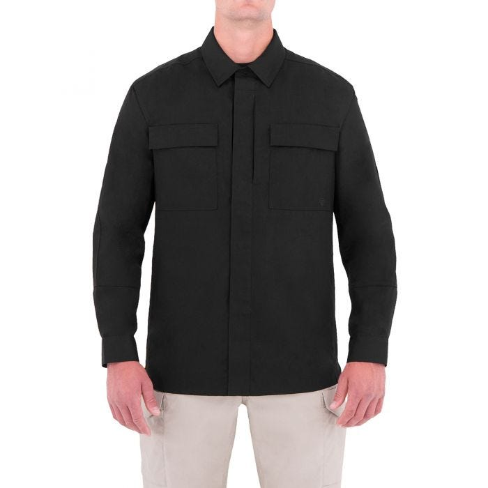 First Tactical Men's Specialist Long Sleeve BDU Shirt Black