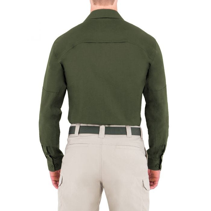 First Tactical Men's Specialist Long Sleeve BDU Shirt OD Green