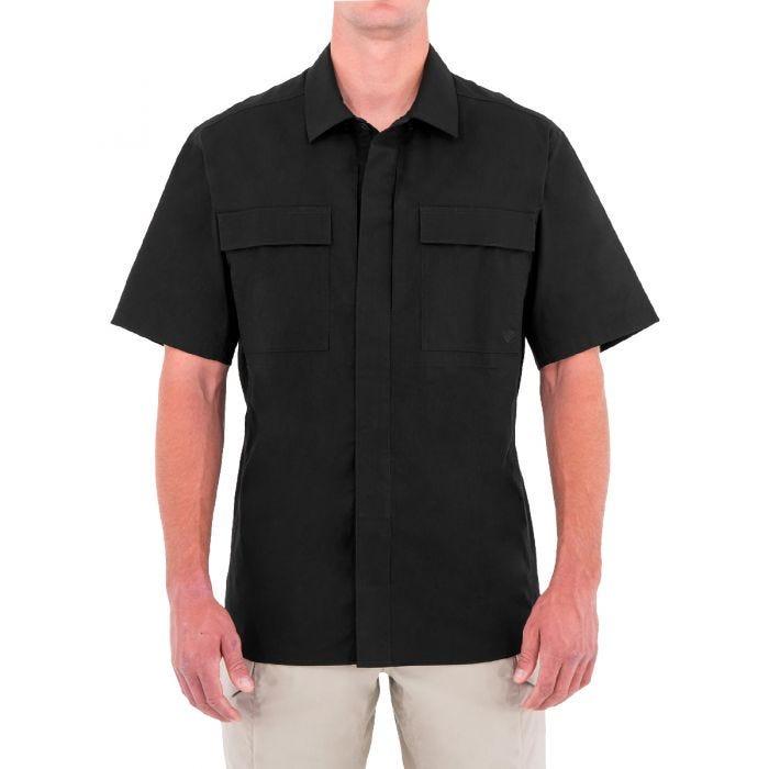 First Tactical Men's Tactix Short Sleeve BDU Shirt Black