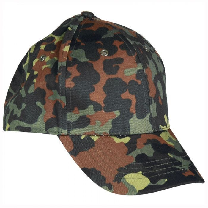 Mil-Tec Kids Baseball Cap with Plastic Band Flecktarn