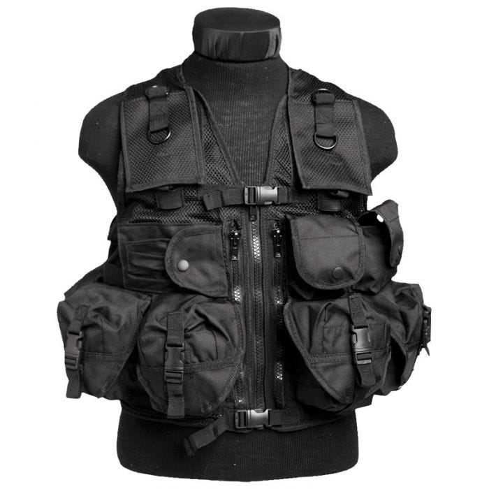 Mil-Tec Ultimate Assault Vest Black
