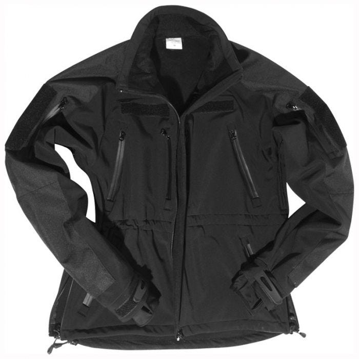 Mil-Tec Soft Shell Jacket Black