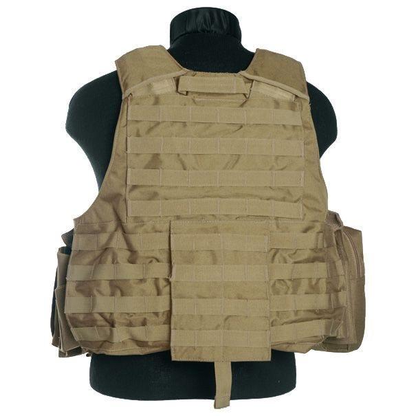 Mil-Tec M.Release MOLLE Combat Vest Coyote