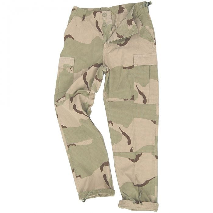 Teesar BDU Trousers Ripstop 3-Color Desert