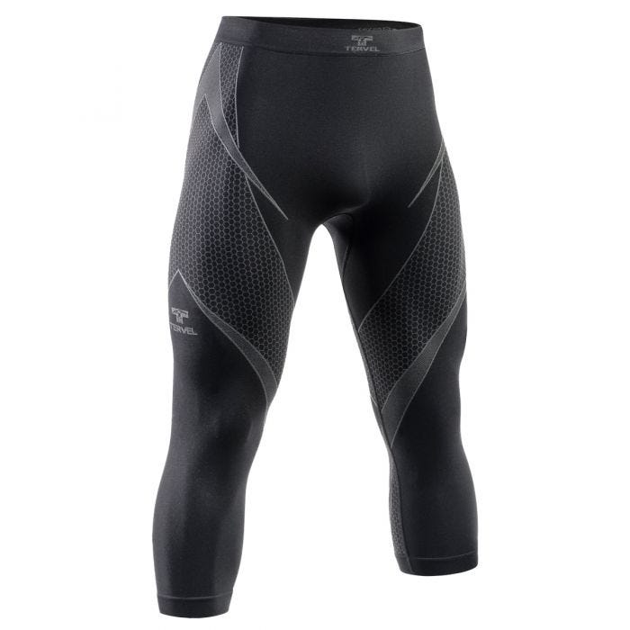 Tervel Optiline Long Bottoms 3/4 Black/Grey
