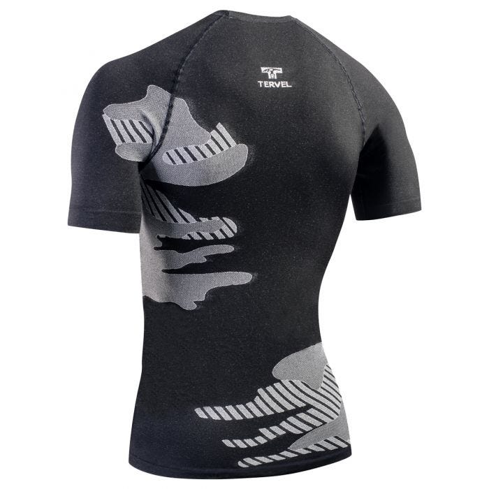 Tervel Optiline Light Shirt Short Sleeve Black/Light Grey