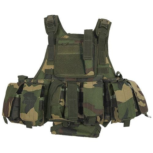 MFH Tactical MOLLE Vest Ranger Woodland