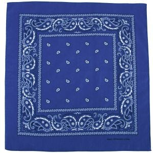 MFH Bandana Cotton Royal White