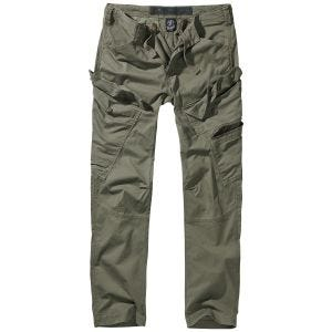 Brandit Adven Slim Fit Trousers Olive