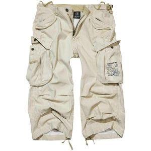 Brandit Industry Vintage 3/4 Shorts Beige Pinstripe