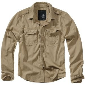 Brandit Vintage Shirt Long Sleeve Camel