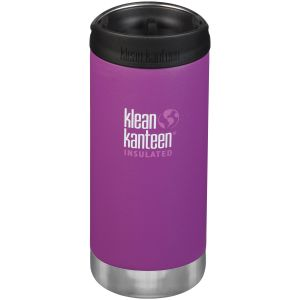 Klean Kanteen TKWide 355ml Insulated Bottle Cafe Cap 2.0 Berry Bright