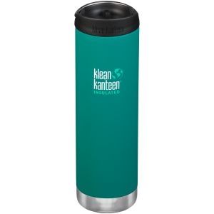 Klean Kanteen TKWide 591ml Insulated Bottle Cafe Cap 2.0 Emerald Bay