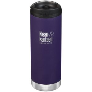 Klean Kanteen TKWide 473ml Insulated Bottle Cafe Cap 2.0 Kalamata