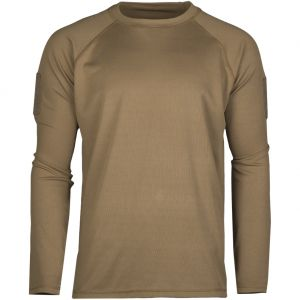 Mil-Tec Tactical Long Sleeve Quick Dry Shirt Dark Coyote