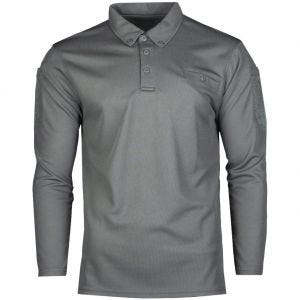 Mil-Tec Tactical Long Sleeve Quick Dry Polo Shirt Urban Gray