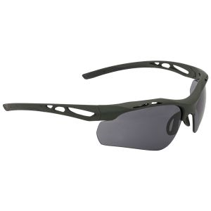 Swiss Eye Attac Sunglasses - Smoke + Orange + Clear Lens / Rubber Olive Frame