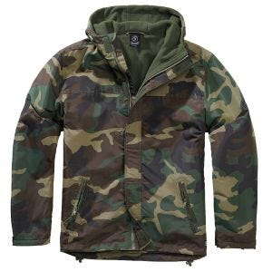 Brandit Windbreaker Front Zip Woodland