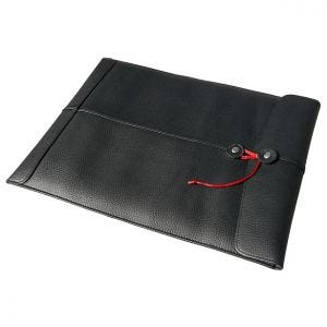"Civilian Manila-13 Leather Sleeve for MacBook 13"" Black"