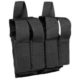 Flyye Double M4/M16 + Quad Pistol Magazine Pouch MOLLE Black