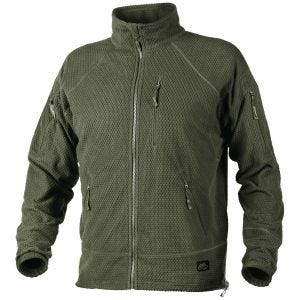 Helikon Alpha Tactical Grid Fleece Jacket Olive Green