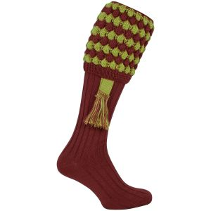 Jack Pyke Pebble Shooting Socks Burgundy
