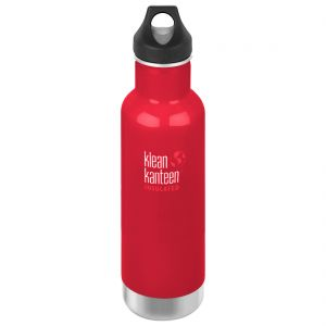 Klean Kanteen 592ml Classic Insulated Bottle Loop Cap Mineral Red