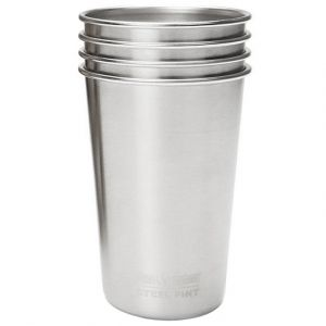 Klean Kanteen 473ml Pint Cups (4-Pack) Brushed Stainless