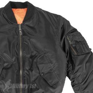 Mil-Tec MA-1 Flight Jacket Black
