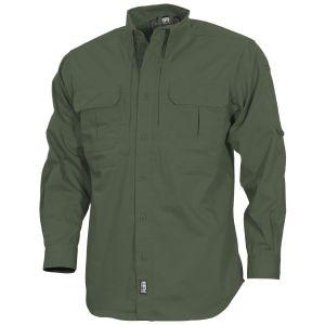 MFH Strike Tactical Shirt Long Sleeve OD Green