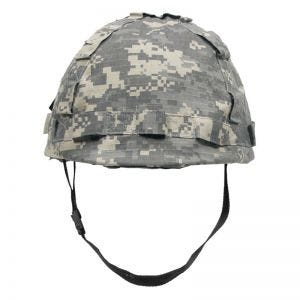 Plastic Helmet with ACU Digital Camo Cloth Cover