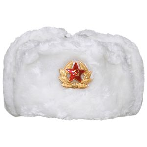 MFH Russian Winter Cap White with Badge