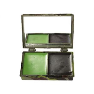 Mil-Tec Camo Face Paint 2 Colors with Mirror Woodland