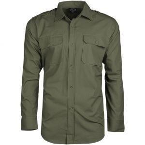 Mil-Tec RipStop Shirt Long Sleeve Olive