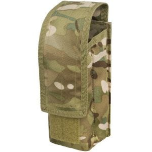 Mil-Tec Single AK47 Magazine Pouch MOLLE Multitarn