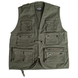 Moleskin Fishing Vest Olive