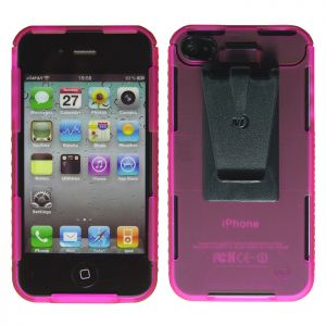 Nite Ize Connect Case for iPhone 4/4S Pink Translucent