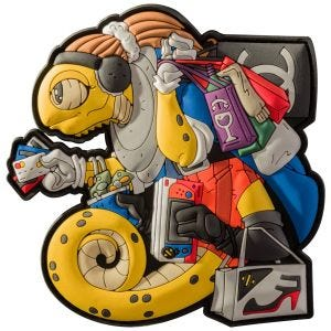 Patchlab Chameleon Black Friday Patch Yellow